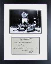 Muhammad Ali Autograph Signed Display